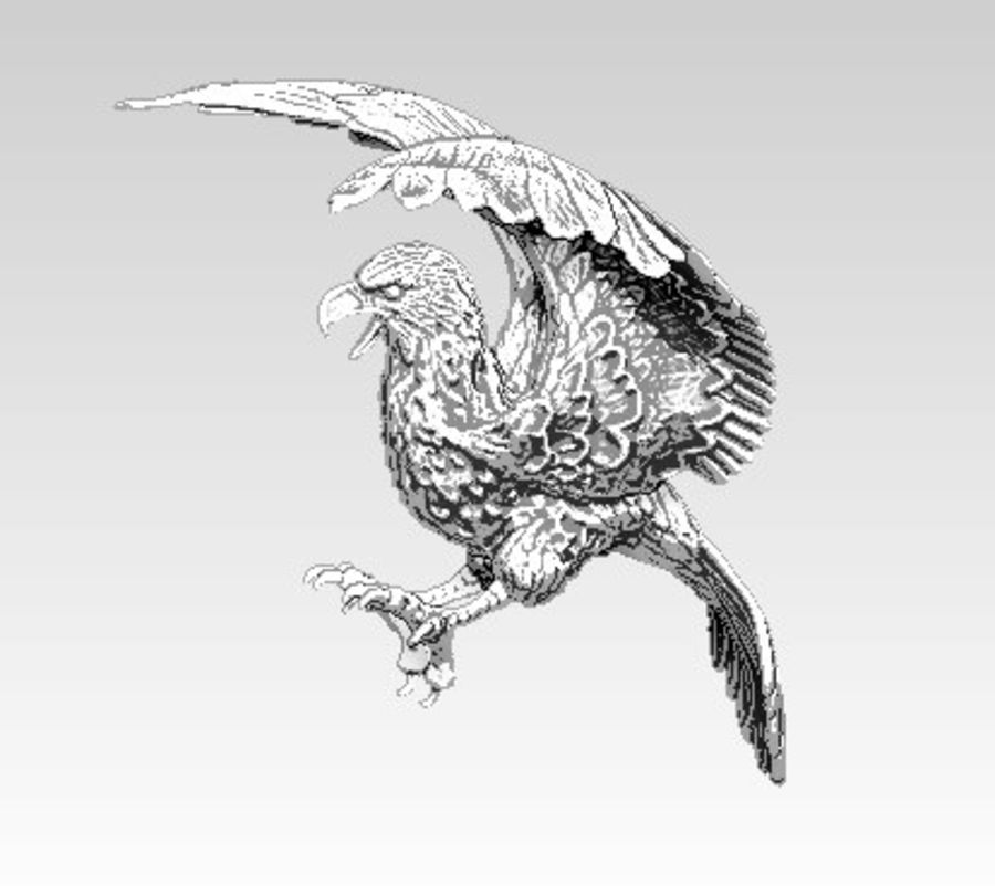Águila americana royalty-free modelo 3d - Preview no. 3