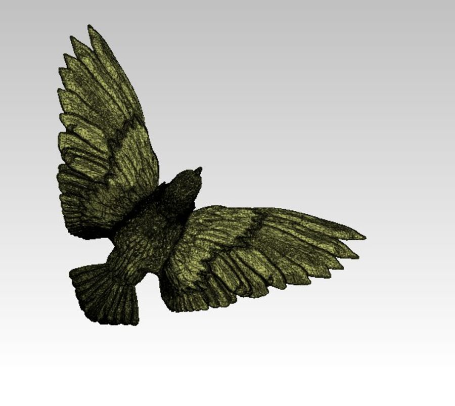 Águila americana royalty-free modelo 3d - Preview no. 7