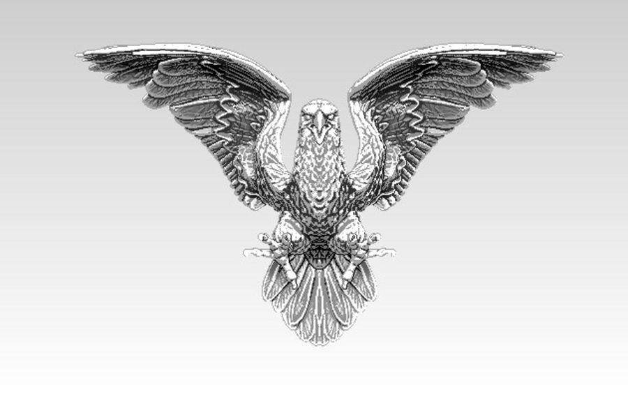 Águila americana royalty-free modelo 3d - Preview no. 1