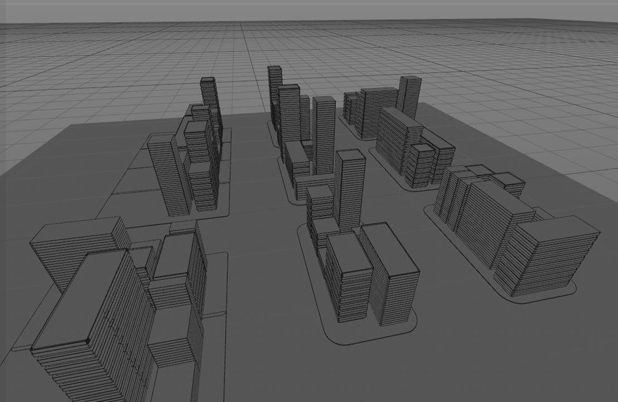 Futuristic city royalty-free 3d model - Preview no. 9