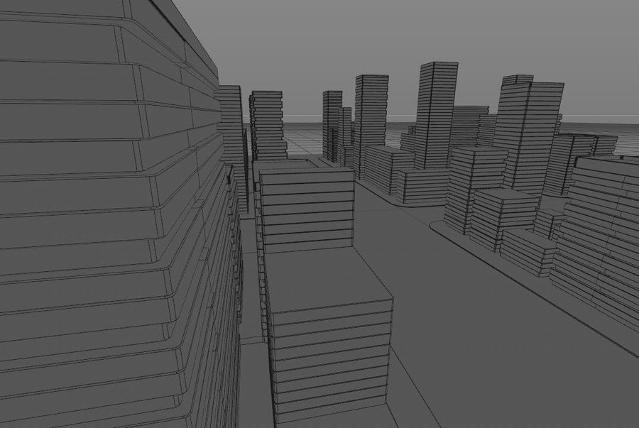 Futuristic city royalty-free 3d model - Preview no. 10