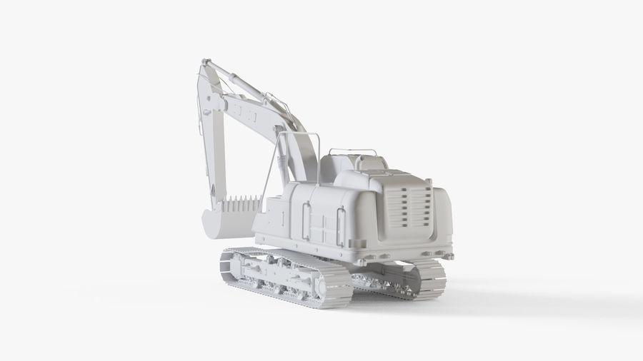 油圧ショベル royalty-free 3d model - Preview no. 12