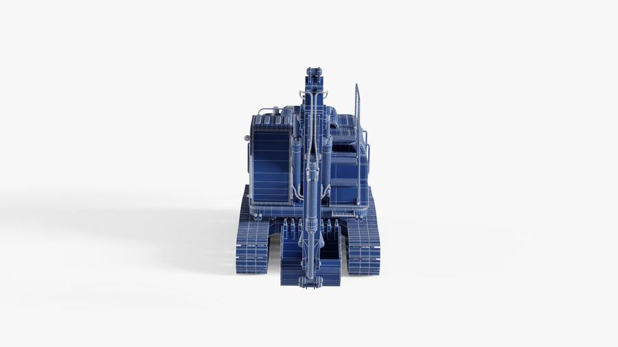 油圧ショベル royalty-free 3d model - Preview no. 16