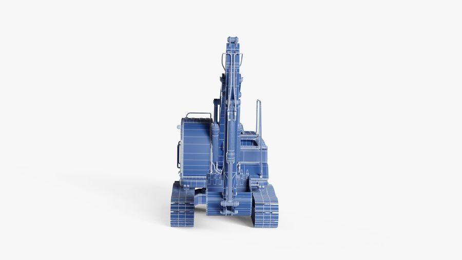 油圧ショベル royalty-free 3d model - Preview no. 21