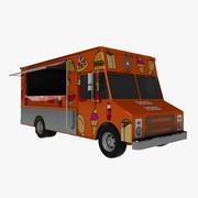 Camion di cibo 3d model
