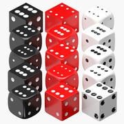 Morphing Six Sided Dice 3d model