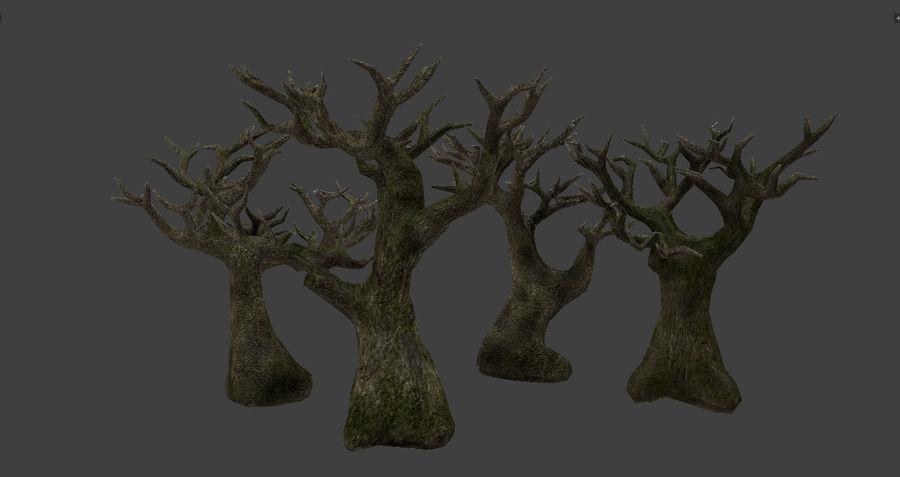 Albero basso poli pbr senza foglie royalty-free 3d model - Preview no. 1