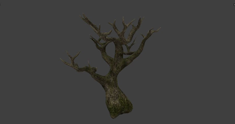 Albero basso poli pbr senza foglie royalty-free 3d model - Preview no. 8