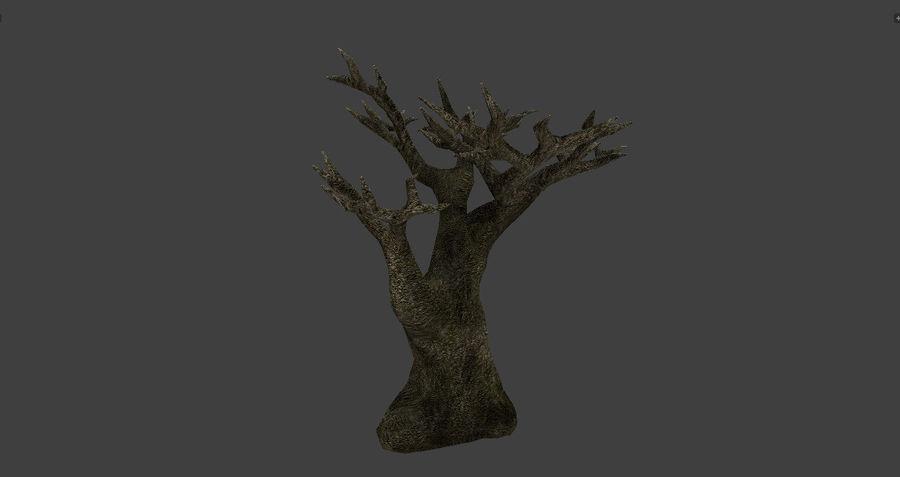 Albero basso poli pbr senza foglie royalty-free 3d model - Preview no. 5