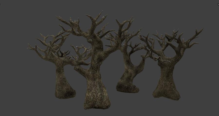 Albero basso poli pbr senza foglie royalty-free 3d model - Preview no. 4