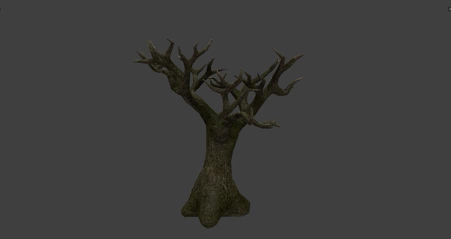 Albero basso poli pbr senza foglie royalty-free 3d model - Preview no. 7