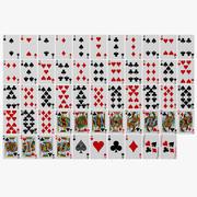 Pełna talia kart do gry 3d model