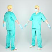 Docteur en chirurgie en pose A prêt pour le gréement 51 3d model