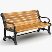 Park Bench v1 3d model