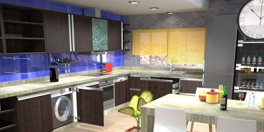 Complete Kitchen Cinema 4d V Ray 3d Model 25 C4d Free3d