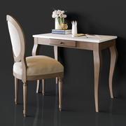 Alexandra Marble Desk 3d model