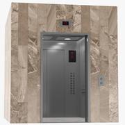 Hissinredning och exteriör 3d model