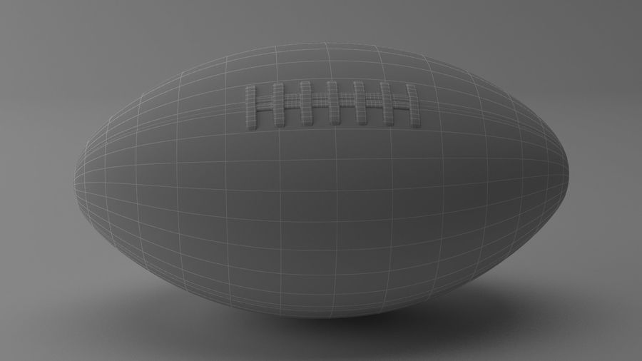 fútbol americano royalty-free modelo 3d - Preview no. 9