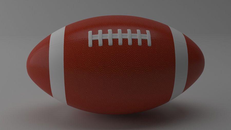 fútbol americano royalty-free modelo 3d - Preview no. 3