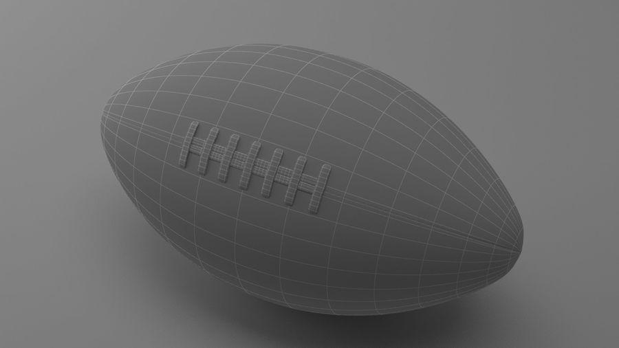 fútbol americano royalty-free modelo 3d - Preview no. 8