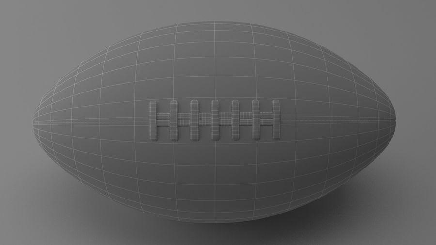 fútbol americano royalty-free modelo 3d - Preview no. 10