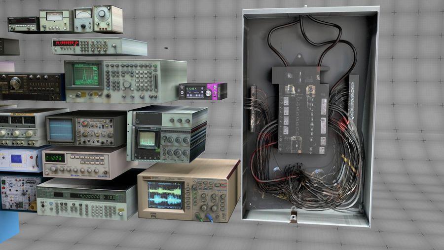 Elektronik, VIntage royalty-free 3d model - Preview no. 6
