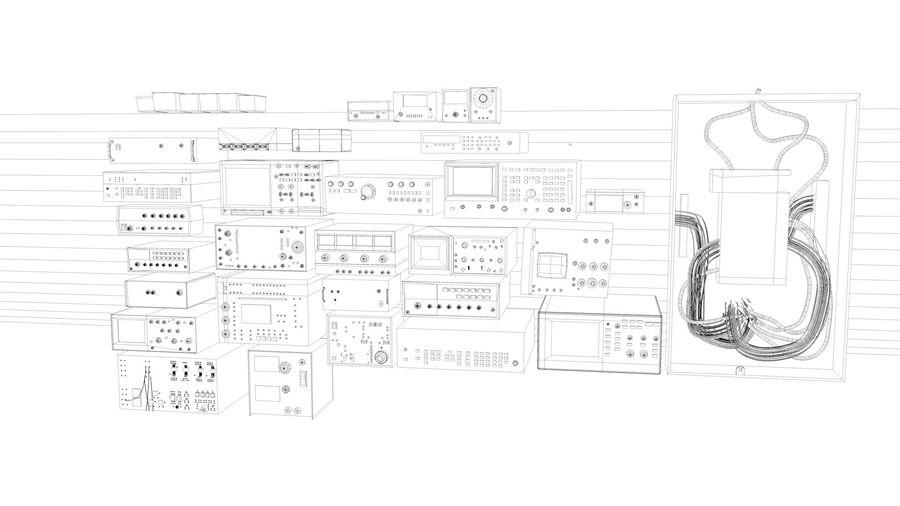 Elektronik, VIntage royalty-free 3d model - Preview no. 7