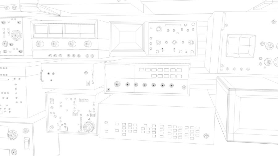 Elektronik, VIntage royalty-free 3d model - Preview no. 10