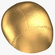 Human Skull (Cranial) 02 Piece Gold 3d model