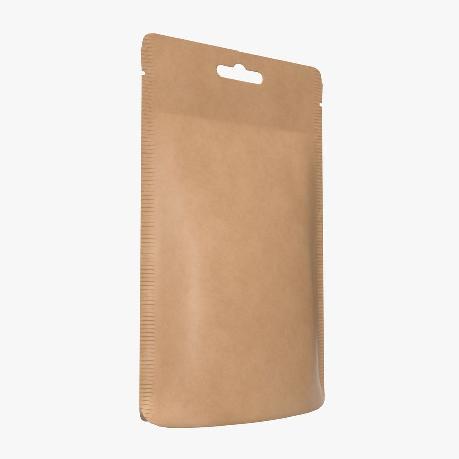 Craft paper pouch bag 01 royalty-free 3d model - Preview no. 1