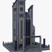 Bâtiment de science-fiction 3d model