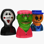 Collection de personnages de jouets effrayants 3d model