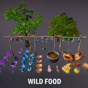Wildes Essen 3d model