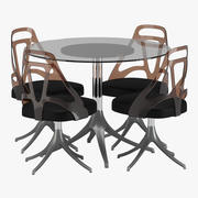 식탁과 의자 01 3d model