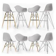 Eames Cadeiras Laterais em Plástico CINZENTO 3d model