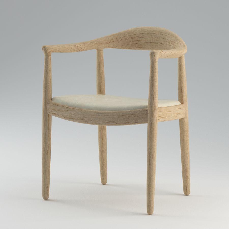 Hans Wegner Krzesło PRO royalty-free 3d model - Preview no. 5