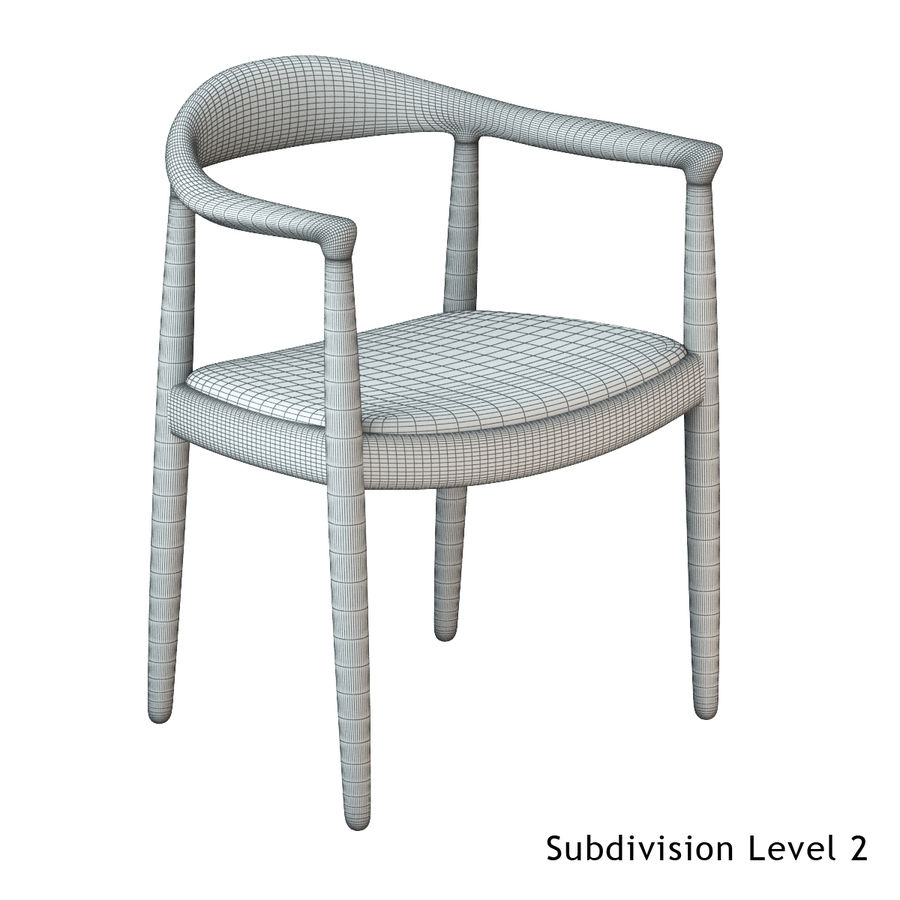 Hans Wegner Krzesło PRO royalty-free 3d model - Preview no. 16