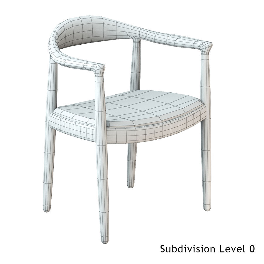 Hans Wegner Krzesło PRO royalty-free 3d model - Preview no. 14