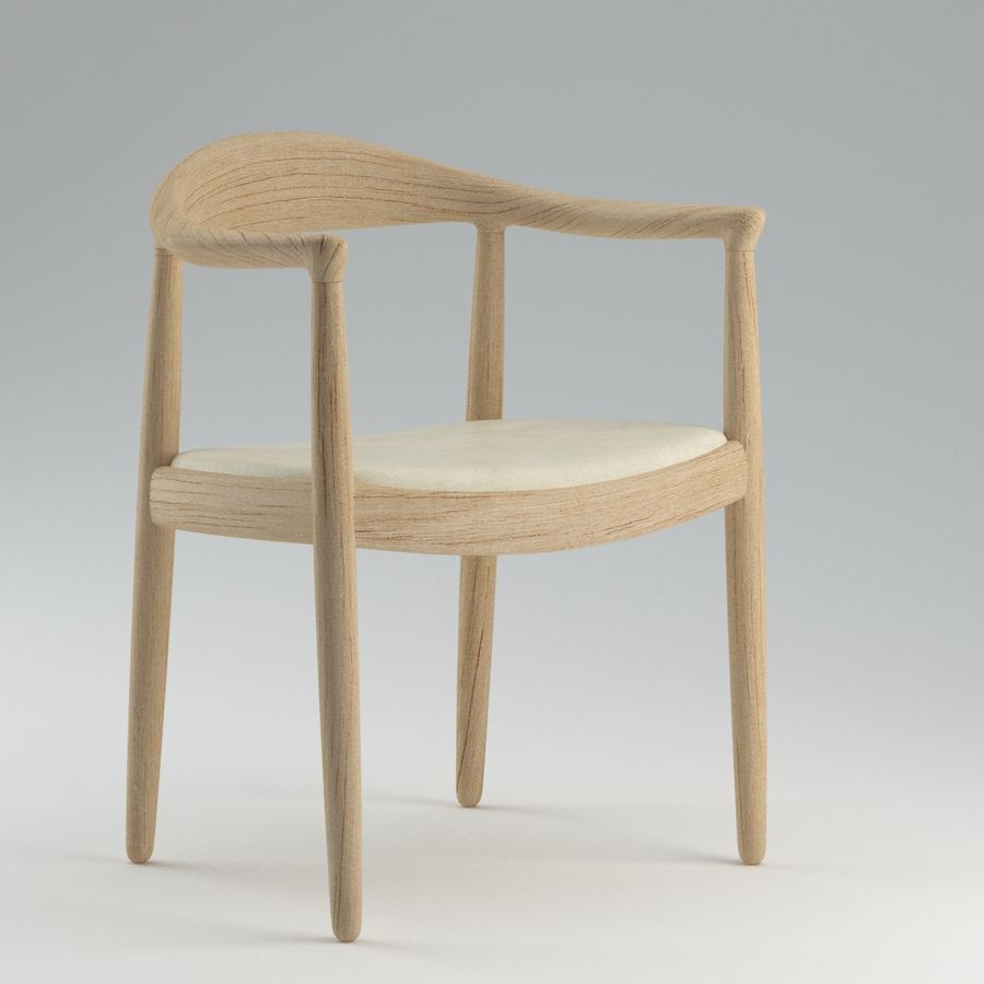 Hans Wegner Krzesło PRO royalty-free 3d model - Preview no. 3