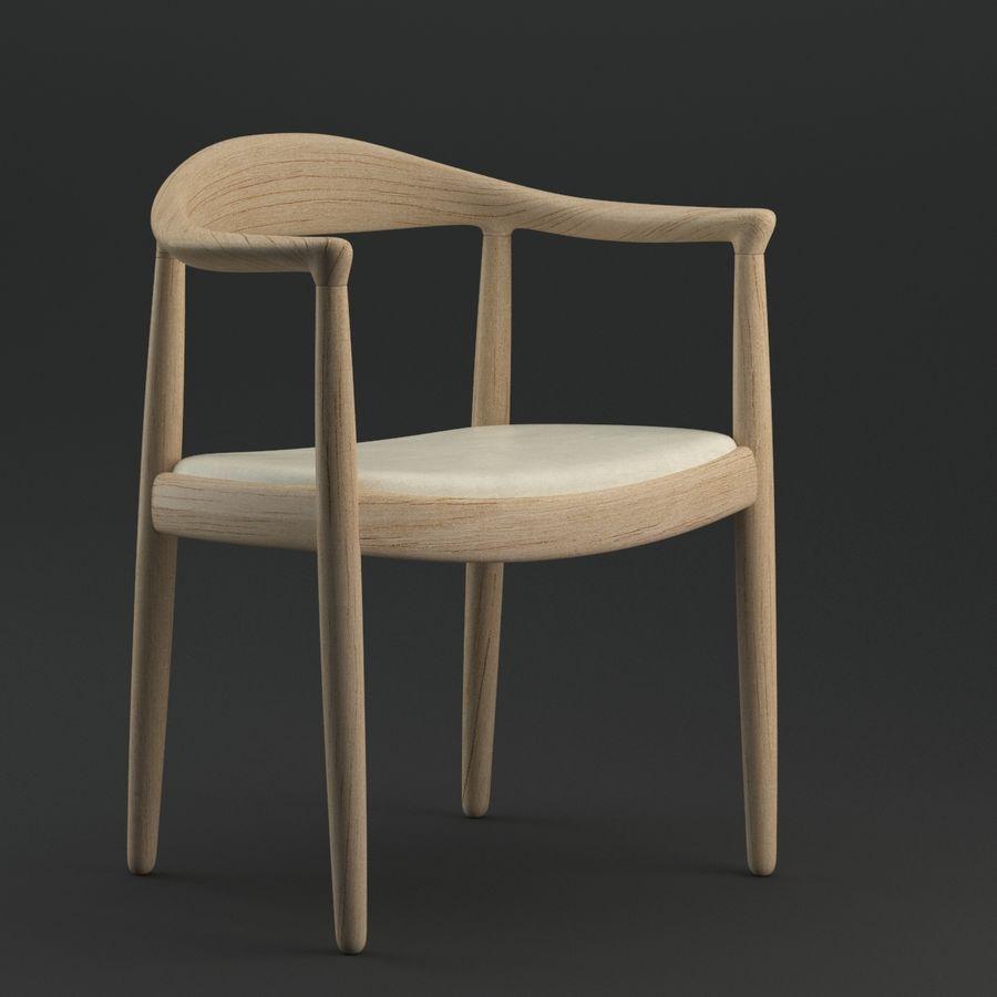 Hans Wegner Krzesło PRO royalty-free 3d model - Preview no. 2