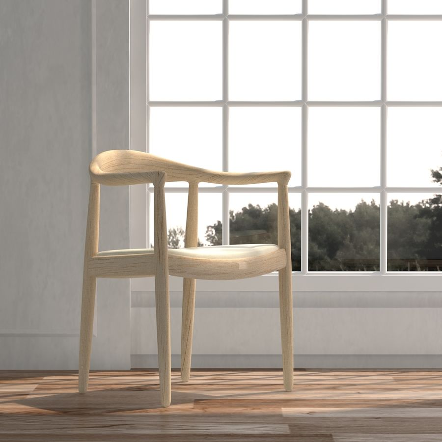 Hans Wegner Krzesło PRO royalty-free 3d model - Preview no. 4