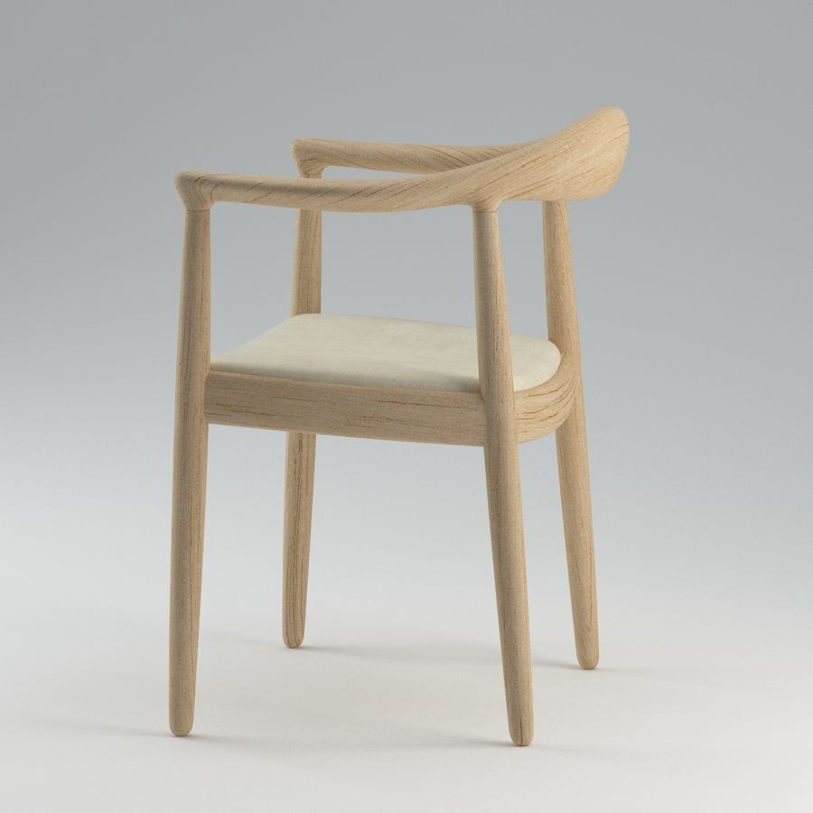 Hans Wegner Krzesło PRO royalty-free 3d model - Preview no. 6