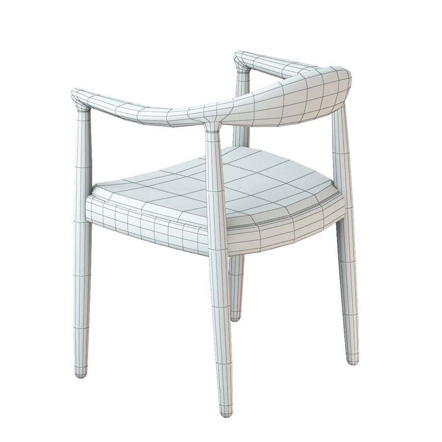 Hans Wegner Krzesło PRO royalty-free 3d model - Preview no. 17