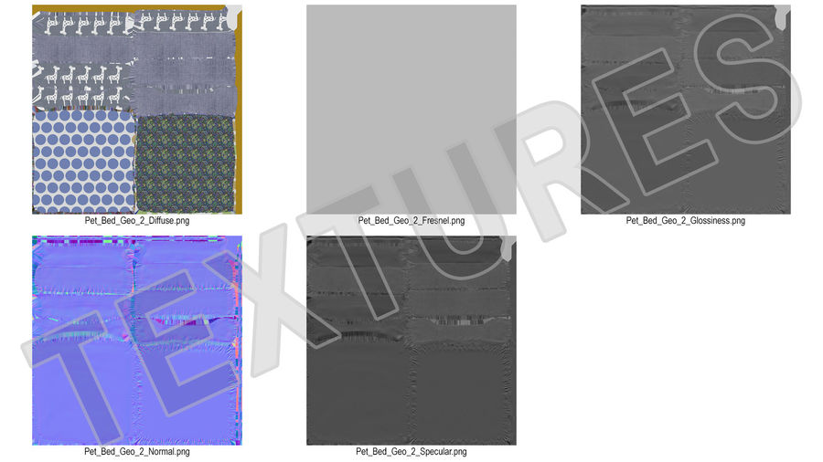 Pet Bed Generic royalty-free 3d model - Preview no. 15