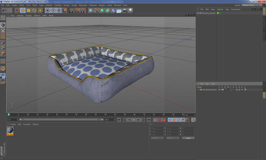 Pet Bed Generic royalty-free 3d model - Preview no. 17