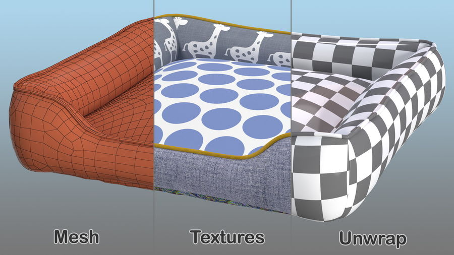 Pet Bed Generic royalty-free 3d model - Preview no. 11