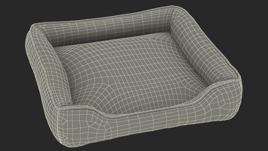Pet Bed Generic royalty-free 3d model - Preview no. 19