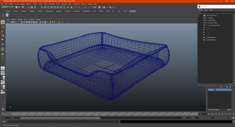 Pet Bed Generic royalty-free 3d model - Preview no. 16