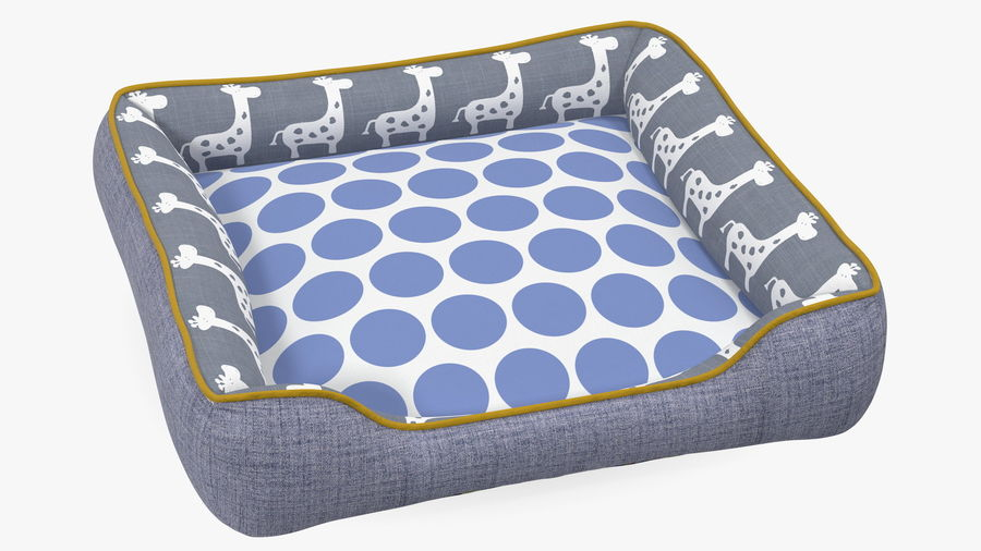 Pet Bed Generic royalty-free 3d model - Preview no. 2