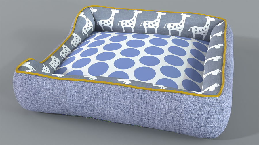 Pet Bed Generic royalty-free 3d model - Preview no. 5